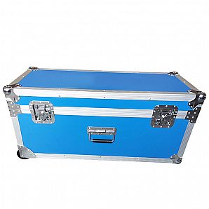 Custom Blue Flight Case with Wheels